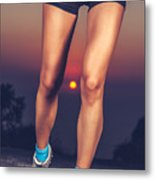 Beautiful Sportive Womens Legs Metal Print