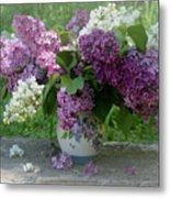 Beautiful Spring Flowers In A Vase Metal Print