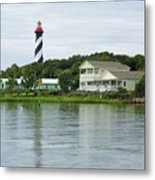 Beautiful St Augustine Lighthouse Waterfront Metal Print