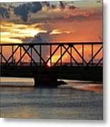 Beautiful Sunset Bridge  Metal Print