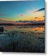 Beautiful Sunset By The Lake Metal Print