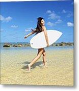 Beautiful Surfer Girl Metal Print