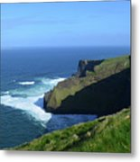 Beautiful Sweeping Views Of Ireland's Cliff's Of Moher Metal Print