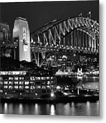 Beautiful Sydney Harbour In Black And White Metal Print