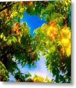 Beautiful Tree Tops In Sky Metal Print
