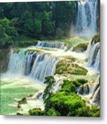 Beautiful Waterfall Crystal Waters Metal Print