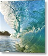 Beautiful Wave And Sunlight Metal Print