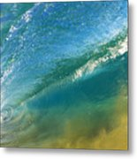 Beautiful Wave Breaking Metal Print