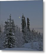 Beautiful Winter Evening Metal Print