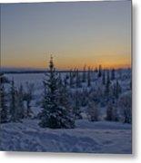 Beautiful Winter Sunrise Metal Print