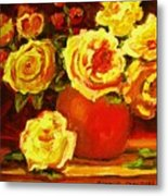 Beautiful Yellow Roses Metal Print