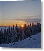 Beautiful Yellowknife Sunrise Metal Print