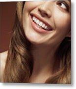 Beautiful Young Smiling Woman Metal Print