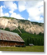 Beauty And The Barn.  Metal Print