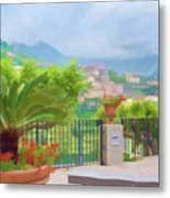 Beauty In Capri Metal Print