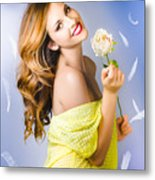 Beauty Of Romance Floating In The Summer Breeze Metal Print