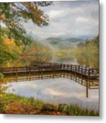 Beauty Of The Lake Oil Painting  Metal Print