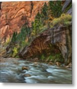 Beauty Of The Narrows Metal Print