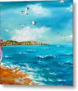 Beauty On The Shore Metal Print