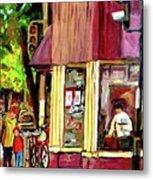 Beautys Luncheonette Montreal Diner Metal Print