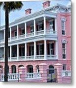 Beauutiful Pink Colonial Style Mansion Metal Print
