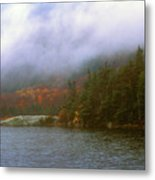 Beaver Pond Kinsman Notch Autumn Storm Metal Print
