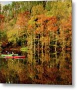 Beaver's Bend Canoeing Metal Print