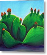 Beavertail Cactus Metal Print