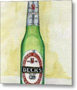 Becks Metal Print