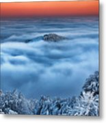 Bed Of Clouds Metal Print