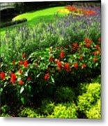 Bed Of Flowers Metal Print