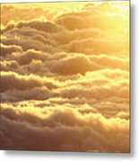 Bed Of Puffy Clouds Metal Print