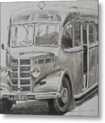 Bedford Ob Coach Of The Forties. Metal Print