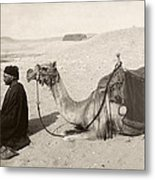 Bedouin At Prayer Metal Print
