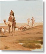 Bedouin In The Desert Metal Print