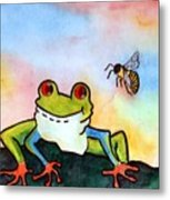 Bee Hoppy Metal Print