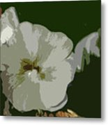 Bee In The Hollyhock Metal Print