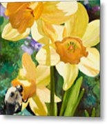 Bee Open By Marilyn Nolan-johnson Metal Print
