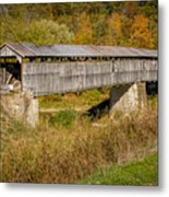 Beech Fork Or Mooresville Covered Bridge Metal Print