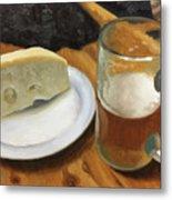 Beer And Jarlsberg Metal Print by Timothy Jones