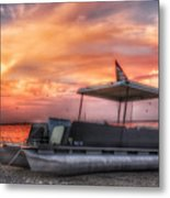 Beer Can Island Sunset Metal Print
