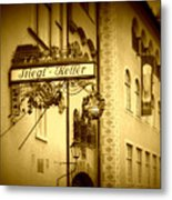 Beer Cellar In Salzburg Metal Print