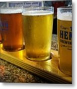 Beer Flight Metal Print by April Wietrecki Green
