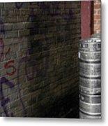 Beer Keggs And Graffiti Metal Print