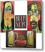 Beer Nuts Metal Print