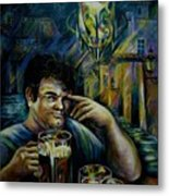 Beer Of Prague Metal Print