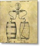 Beer Pump Patent Metal Print