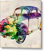 Beetle Urban Art Metal Print
