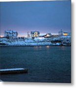 Before Dawn Reine Lofoten Metal Print