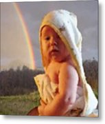 Before She Smiled Or Mona Little Metal Print